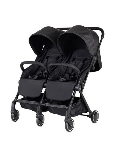 Sunny Baby Sunny Baby 9002 Moonstar İkiz Bebek Arabası Sıyah - Yanyana İkiz Renkli